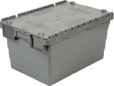 new industrial Polyproylene :  Attached Lidded Crate 60ltr LOWEST UK PRICE NEW PRODUCT pledge