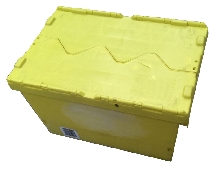 INDUSTRIAL POLYPROPYLENE ATTACHED LID CONTAINERS 60LTR